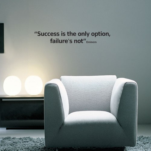 Success Wall Decal Quote