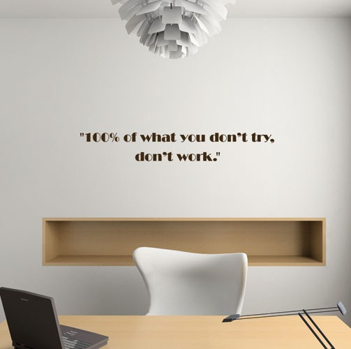Exceptional Donu0027t Try Donu0027t Work Wall Decal Quote