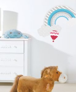 Wall Decal Rainbow and Clouds