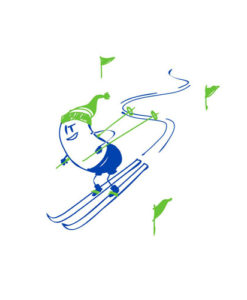 wall decal skiing wally blue