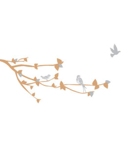 wall decal spring Beige & Grey