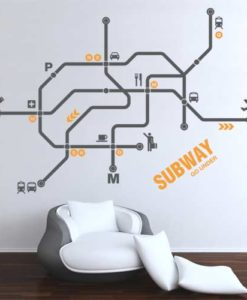 subway wall decal yellow 4make
