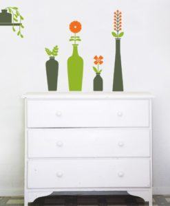 Vases & Flowers Wall Decal