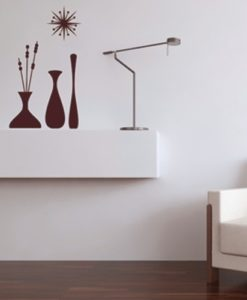 Wall Decal Vases On a Shelf