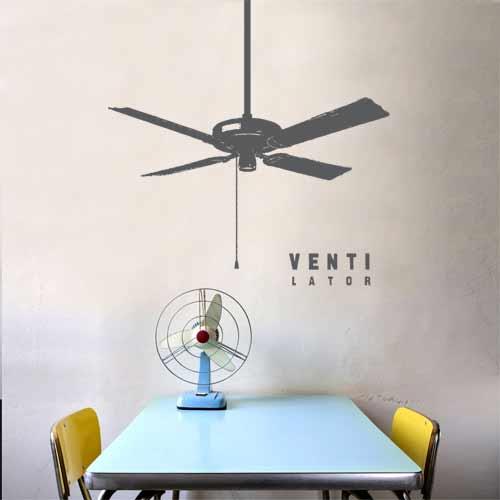 wall Decal celling Fan Ventilator