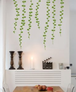 vine wall sticker Light Green