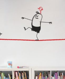 Rope Walking Wally Wall Decal