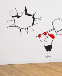 Wall Decal Wally The Builder