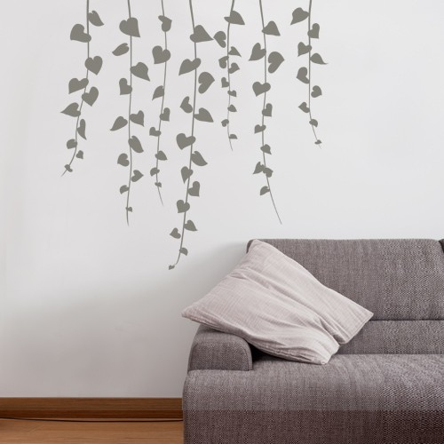 Waterfall Vine Wall Decal & Wall Decal Waterfall Vine - Nature Vinyl Wall Stickers - CoolWallArt