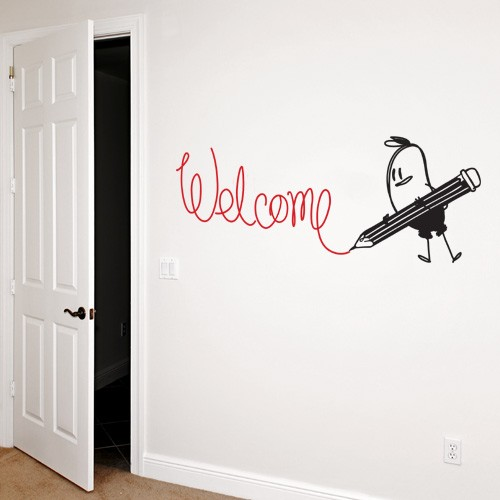Wall Decal Welcome Wally - Vinyl Wall StickerCoolWallArt