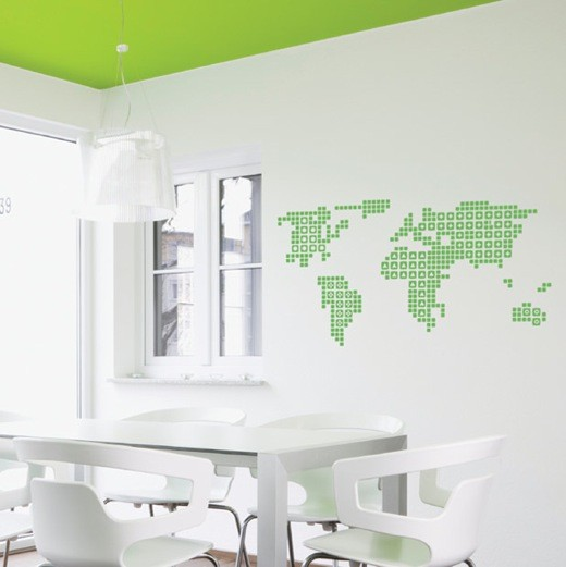 Wall Decal World Map & Wall Decal World Map - Vinyl Wall Stickers