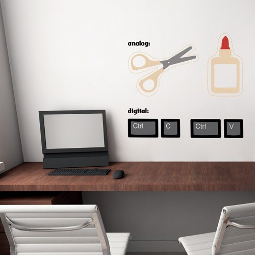 Cut Paste Wall Decal