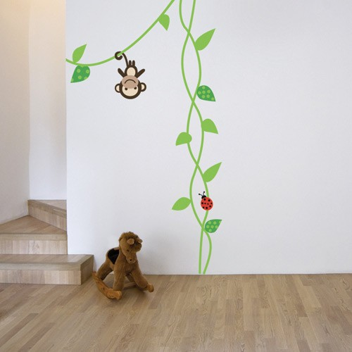 monkey stickers for walls. Black Bedroom Furniture Sets. Home Design Ideas