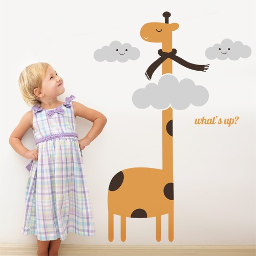 Wall decal giraffe in the sky