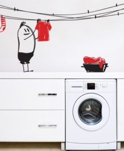 Wall Decal Laundry Wally
