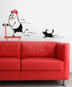 wall sticker scooter wally