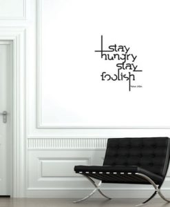 Wall Decal Quote Steve Jobs