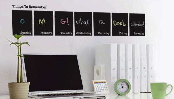 weekly calendar wall stickers